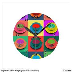 Pop-Art Coffee Mugs Wall Clocks