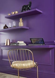 Purple wall, ultra voiolet, pantone 2018 purple trend