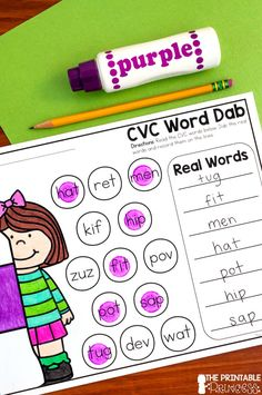 Here's several activities to help your students learn CVC words while using bingo dabbers! You'll find a combination of centers, practice pages, and games focused on CVC words. Bingo dabbers make learning more fun and get kids super excited about their work.
