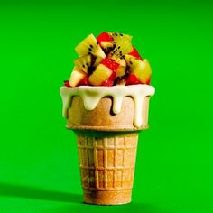 KIDS KIWI FRUIT CONE Every parent dreams of getting their family to eat healthier.  But who says healthy eating has to be boring or taste bad?