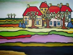 cor melchers - Google zoeken City Folk, Portfolio, Naive, Folk Art, Cool Pictures, Art Projects, Scrap, Dutch, Painting