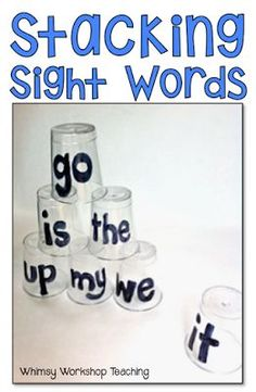 Dollar Store Literacy: Stacking Cups - Whimsy Workshop Teaching