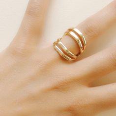 Anillo bandas dorado (4€) Te invitamos a que descubras nuestra colección de anillos de temporada www.deplanoodetacon.com