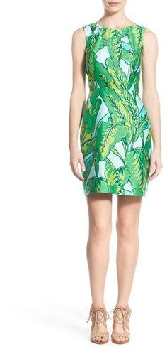 Vineyard Vines Banana Leaf Print Sheath Dress