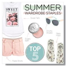 """""""Top 5 Summer Staples"""" by mallorydiann ❤ liked on Polyvore featuring moda, Love 21, Tory Burch, Full Tilt, Paul Smith, Bobbi Brown Cosmetics y summerstaples"""