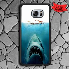 Shark Jaws Movie Samsung Galaxy S6 Edge Black Case