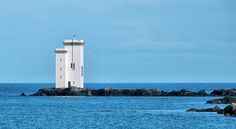 from foursquare lighthouses | view of the lighthouse at Carraig Fhada near Port Ellen. Compared to ...