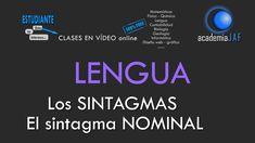 Los sintagmas. El Sintagma Nominal - Análisis sintáctico Lengua Española...