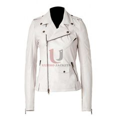 Ashes To Ashes (Alex Drake) White Leather Jacket by Ultimo Jackets
