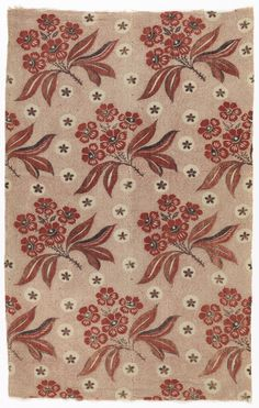 French linen and cotton, 1750-1800