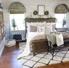 40 Beautiful Modern Farmhouse Bedroom Decor Ideas