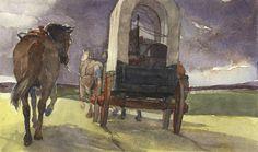 "Art inspiration (wagon trains): Chad Gowey's ""Spring rains"""