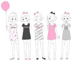 Manga girl female body pose references
