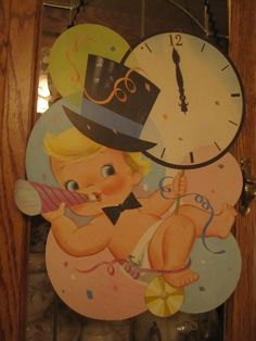 Vintage New Year's decoration - so cute!