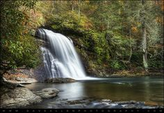 Silver Run Falls waterfall in Cashiers NC. There's a lot to love about the Cashiers NC and Highlands NC area, including this beautiful waterfall in the Nantahala National Forest in the Blue Ridge Mountains of Western NC, USA
