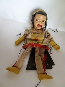 Vintage Marionette Peter Puppet Playthings Howdy Doody Indian Princess | eBay