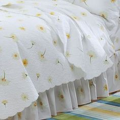 Our exclusive daisy pattern is on crisp, breathable cotton percale sheets combed for softness. Daisy Love, Daisy Girl, Percale Sheets, Bed Sheets, Cozy Cottage, Cottage Style, Teen Girl Bedrooms, Guest Bedrooms, Guest Room