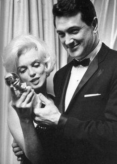 Marilyn Monroe & Rock Hudson at the Golden Globes, 1962