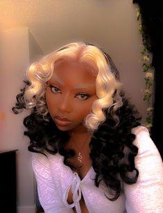 Black Girl Aesthetic, Aesthetic Hair, Aesthetic Collage, Natural Hair Styles For Black Women, Hair Color For Women, Hair Color Auburn, Ombre Hair Color, Black Girls Hairstyles, Wig Hairstyles