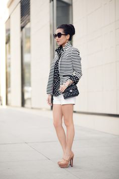 From blog entry: http://www.wendyslookbook.com/2012/04/marshmallow-stripe-blazer-silk-dots/