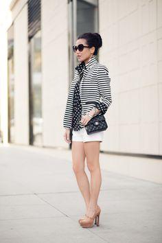 From blog entry: http://www.wendyslookbook.com/2012/04/marshmallow-stripe-blazer-silk-dots/
