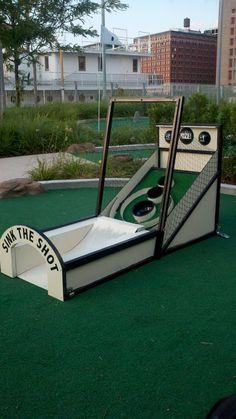 I love Skee-Ball, he loves golf. Match made in Heaven. Custom Skee-Ball Mini-Golf Obstacle. $500.00, via Etsy.