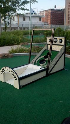I love Skee-Ball, he loves golf. Match made in Heaven. Custom Skee-Ball Mini-Golf Obstacle. $500.00, via Etsy.