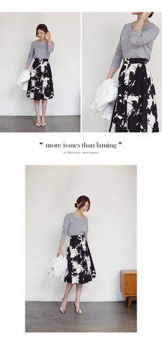 フローラルプリントフレアミディスカート・全2色ワンピース・スカートスカート|大人のレディースファッション通販 HIHOLLIハイホリ [トレンドをプラスした素敵な大人スタイル]