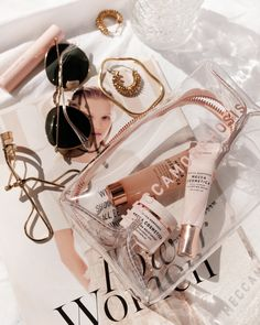 There are thousands of beauty tricks that make a difference in your looks — especially if you're a woman age But who has . Rose Gold Aesthetic, Cream Aesthetic, Boujee Aesthetic, Aesthetic Collage, Aesthetic Vintage, Aesthetic Photo, Aesthetic Pictures, Flat Lay Photography, Fashion Photography