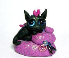 OOAK Miniature Baby Cloud Dragon Trollfling Troll by Trollflings, $36.50