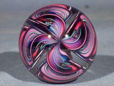 Marbles: Hand Made Art Glass James Alloway Dichroic Cane Quadmania#166  1.85inch #Contemporary