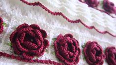 Barrado de toalhas em crochet Ateliana Artes em Linhas