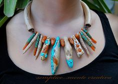 Ethnic polyme clay necklace | by carlabenedetti55