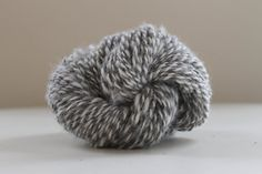 Handspun Alpaca Natural Grey and Cream Striped by Tillhandahalla, $40.00