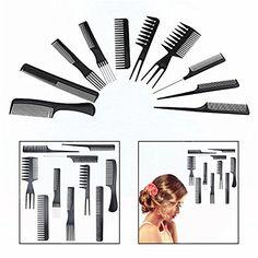 Gearmax® Set 10 Peigne Plastique Noir Antistatique pour Salon Coiffure Barbier Cheveux #Gearmax® #Peigne #Plastique #Noir #Antistatique #pour #Salon #Coiffure #Barbier #Cheveux