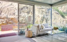 Aluminum-Frame Windows with a Rock View