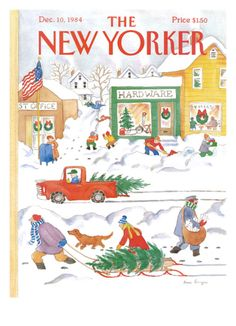 Snow Day is a 500 piece jigsaw puzzle by New York Puzzle Co. featuring a cover of the New Yorker Magazine from Completed dimensions: 18 The New Yorker, New Yorker Covers, Christmas Cover, Christmas Past, All Things Christmas, Christmas Sketch, Christmas Comics, Retro Christmas, Christmas Images
