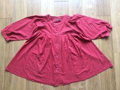 Gudrun Sjoden Women's Red Patterned Long Sleeved Cotton Tunic Medium | eBay
