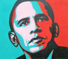 Pop Art Drawing, Art Drawings Sketches, Pop Art Portraits, Painting Portraits, Obama Painting, Wallpaper Colour, Obama Portrait, Pop Art Background, Pop Art Images