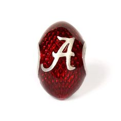 Sterling Silver and Crimson Enamel University of Alabama Football Charm Bead - LOVE THIS ONE! RTR