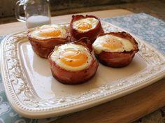 Muffins de Tocino y Huevo - QueRicaVida.com