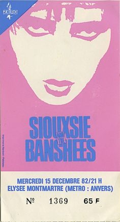 Siouxsie and the Banshees......have this t-shirt. VINTAGE PUNK