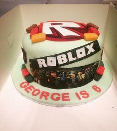 Roblox Birthday Cake Roblox Birthday Cake, Roblox Cake, Birthday Cakes, 10th Birthday Parties, Birthday Party Themes, Birthday Ideas, Roblox Animation, Games For Kids, Baking