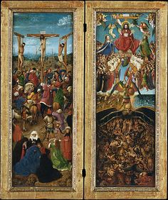 The Crucifixion; The Last Judgment  Jan van Eyck  Flemish 15th Cent.