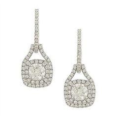 Pave Diamond Dangle Earrings Diamond Dangle Earrings, Decorative Bells, Dangles, Top, Stuff To Buy, Jewelry, Jewlery, Jewerly, Schmuck