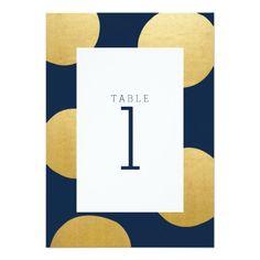 Gold Spots | Modern Wedding Table Card