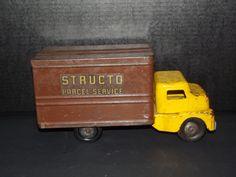 Vintage Structo Parcel Service Pressed Steel Truck #Structo #Structo