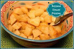 Sweet Tea and Cornbread: Buttered Stewed Potatoes!