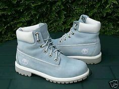 Timberland's in Petrol Blue