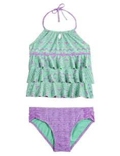 Justice Tribal Print Tankini Swimsuit Found on my new favorite app Dote Shopping #DoteApp #Shopping